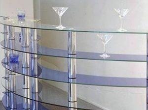 Прилавки из гнутого стекла